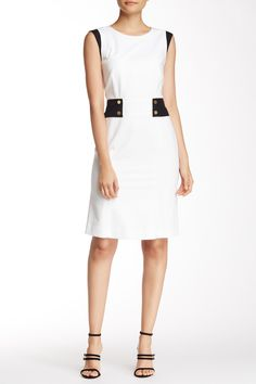 Lafayette 148 - Letitia Two-Tone Sheath Dress (Petite) at Nordstrom Rack. Free Shipping on orders over $100.