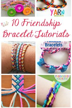 10 Friendship Bracelet Tutorials • FYI by Tina