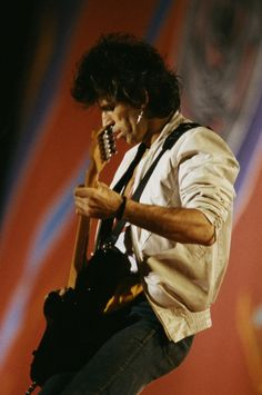 Keith playing during the American Tour, 1981