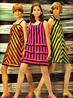 1960's Fashion. ♥ Lucy Angle, Colleen Corby, Joan Delaney