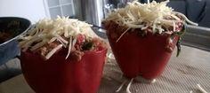 [recept] Gevulde paprika's (met veel eiwit)
