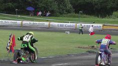 Stock video footage - Start Motocross - Speedway - Rennsport Action auf dem Holsteinring