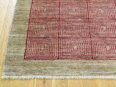 Hand-Knotted Modern Gabbeh 100 Percent Wool Oriental Rug- Product:4-7-x6-Hand-Knotted-Modern-Gabbeh-100-Percent-Wool-Oriental-Rug-Sh32224