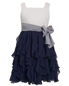 Bonnie Jean offers ELEGANT ivory and navy special occasion dress for your girl. Perfect for any occasion. (sz. 7 - 16)