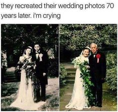 This couple re-creating their marriage photo 70 years later Sweet Stories, Cute Stories, Cute Relationship Goals, Cute Relationships, Marriage Goals, Human Kindness, Joke Of The Day, Faith In Humanity Restored, Make You Smile