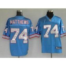 Oilers  74 Bruce Matthews Baby Blue Stitched NFL Jersey Bruce Matthews 876d1121f