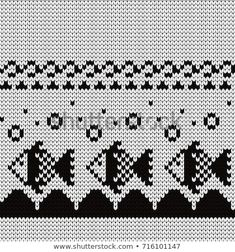 Tapestry Crochet, Knitting Charts, Christmas Stockings, Free Pattern, Cool Designs, Mosaic, Cross Stitch, Embroidery, Sewing