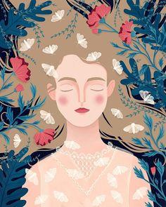 Love Illustration, Portrait Illustration, Guache, Name Art, Cartoon Art, Art Girl, Art Inspo, Folk Art, Art Drawings
