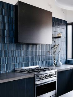 Home Interior Modern .Home Interior Modern Kitchen Backsplash, Splashback Tiles, Blue Kitchen Tiles, Blue Tiles, Concrete Kitchen, Buy Kitchen, Kitchen Tools, Home Interior, Home Decor Accessories