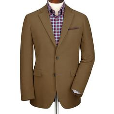 Camel moleskin unstructured Slim fit jacket