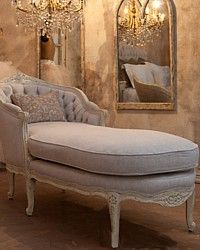 Eloquence Louis Tufted Chaise-French, Vintage, Shabby Chic, furniture,bedroom,lounge, glamorous,