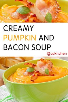 Made with sour cream and fresh herbs, salt and pepper, cream, bacon, onion, garlic, oil, pumpkin, potatoes, water, chicken or bacon stock, fresh herbs | CDKitchen.com