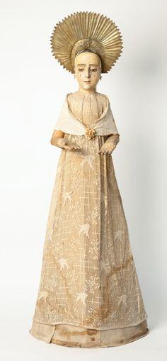 Virgin with Original Costume,18th Century/Spanish Colonial~Image via Allan Knight Antiques