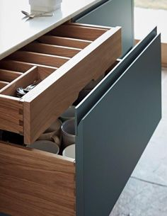 It is all in the detail with the cabinetry from John Lewis of Hungerford. Home Decor Kitchen, Kitchen Furniture, Kitchen Interior, Bedroom Furniture, Furniture Design, Furniture Removal, Modern Kitchen Cabinets, Kitchen Drawers, Modern Kitchen Design