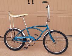 A Stingray, Buzz Bike, and a Mattel Stallion walk into a bar. Vintage Schwinn Bikes, Vintage Bicycles, Banana Seat Bike, Ape Hanger Handlebars, Pro Bike, Chopper Bike, Mini Bike, Bicycle Design, Bike Accessories