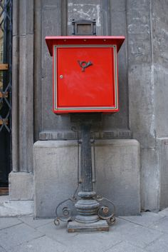 A postbox in Hungary.