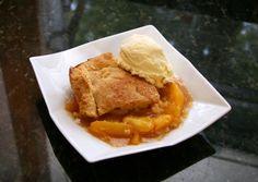 A Delicious Homemade Peach Cobbler