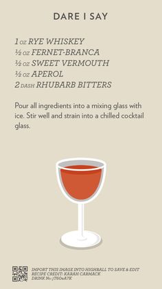 Cocktail Catalog — Dare I Say Drink Bar, Bar Drinks, Cocktail Drinks, Cocktail Recipes, Alcoholic Drinks, Festive Cocktails, Bourbon Cocktails, Classic Cocktails, Mixed Drinks Alcohol