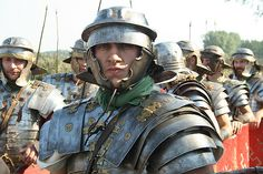 A fearsome looking Roman Soldier.