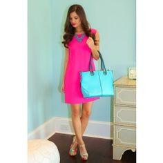 EVERLY:I AM Dress-Hot Pink - $52.00