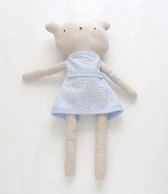 A little bear that I made my friend's daughter for xmas.