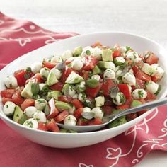Fresh Mozzarella & Tomato Salad Recipe from Taste of Home -- shared by Lynn Scully of Rancho Santa Fe, California