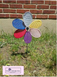Crochet Flower Pinwheel by VH22DESIGNS on Etsy