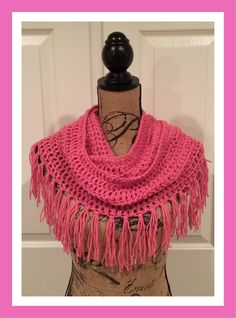 Connie's Spot© Crocheting, Crafting, Creating!: Free Infinity Scarf Crochet Pattern with Fringe©