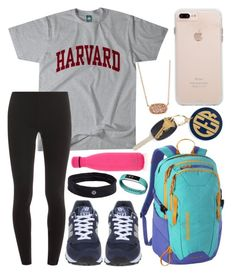 """""""School outfit"""" by jadenriley21 on Polyvore featuring Splendid, New Balance, Patagonia, Hartford, S'well, Kendra Scott, lululemon and Fitbit"""