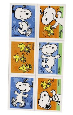Snoopy Birthday Party Favor Stickers 16 Peices – First Birthday Supplies