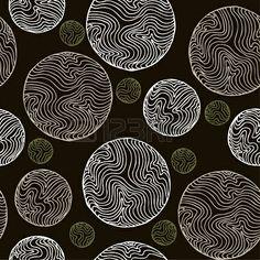 抽象的なシームレスなヴィンテージスパイラルパターンエンドレス古代の黒と白の質感、デザイン、装飾、包装紙、テキスタイル、パッケージ用のテンプレート ストックフォト - 16379495
