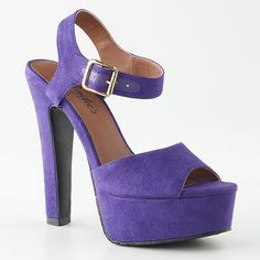 Candie's Peep-Toe Platform High Heels at Kohls.com.  Hey, they're purple and that sells me on them no matter how high the heel !