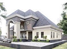 Modern Bungalow House Plans, My House Plans, Bungalow House Design, Duplex House, One Storey House, 2 Storey House Design, Duplex Design, House Construction Plan, Construction Design