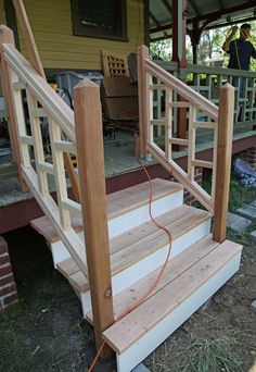 Best Acq Pressure Treat Pine Wood Deck Steps With Deckorators 640 x 480