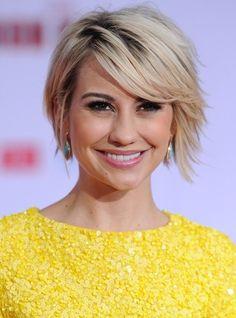 Chelsea Kane Short Hairstyles - Chic Short Sleek Haircut with Side Swept Bangs - Pretty Designs