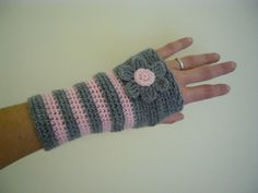 Fingerless gloves - hand warmers - Crochet PDF Pattern