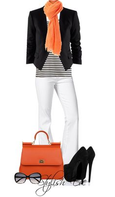 I like this pop of color, and the white jeans. I am also apparently on a blazer kick lately