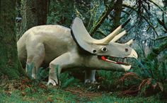 Port Orford, Oregon - Post card of Triceratops, a plant eating dinosaur seen at the Prehistoric Gardens on the Oregon Coat Highway Port Orford, Robot Dinosaur, Plastic Dinosaurs, Dinosaur Illustration, Abandoned Amusement Parks, Tourist Trap, Roadside Attractions, Oregon Coast, World Best Photos