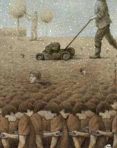 30 Illustrations By Pawel Kuczynski Showing What's Wrong With Modern Society The Polish artist Pawel Kuczynski is an absolute master, combining satire Satire, Satirical Illustrations, Illustrator, Les Religions, Social Art, Social Media, Political Art, Critique, Wow Art
