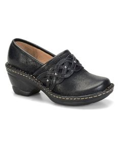 Look what I found on #zulily! Black Lennox Suede Clog by Softspots #zulilyfinds