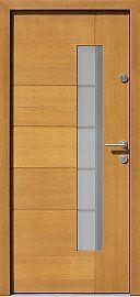 Drzwi zewnętrzne nowoczesne model 418,1+ds1 w kolorze jasny dąb
