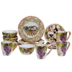 Certified International Sanctuary Wine 16-Piece Dinnerware Set - www.BedBathandBeyond.com