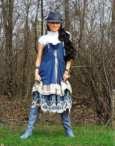 Купить Сарафан БОХО с вышивкой - комбинированный, сарафан бохо, бохо сарафан, платье бохо
