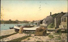 Fishermen's Huts, The Mill Pond Chatham Massachusetts https://www.cardcow.com/398991/fishermens-huts-mill-pond-chatham-massachusetts/