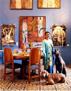 Melva Medina, artist and co-proprietor of Nahualli, a gallery that's also a workshop and a performance space.