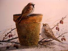 Nature in Watercolor: Garden Pots...