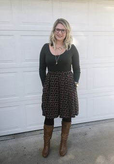 LuLaRoe Madison skirt! You can't go wrong with pockets! Shop with me on Facebook at LuLaRoe Whitney Waseity.