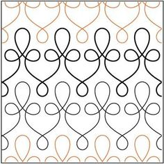 Quilting Filigree pantograph pattern by Patricia Ritter of Urban Elementz Patchwork Quilting, Quilting Stitch Patterns, Machine Quilting Patterns, Quilt Stitching, Longarm Quilting, Free Motion Quilting, Quilt Patterns, Quilts, Piping Patterns