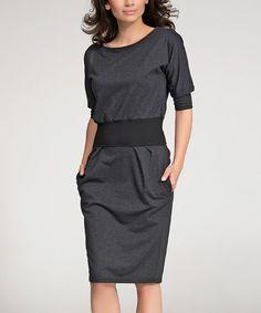 Look what I found on #zulily! Graphite Three Quarter-Sleeve Dress #zulilyfinds