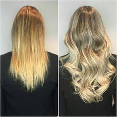"""Natural ash blond! Makeover by Sarah @rapunzelhelsinki ✨ In this look: 4 packets Quick & Easy Premium 50 cm/20"""" in Cendre Ash Blond Mix #14/60 👌 #rapunzelofsweden"""